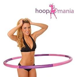 Hoopomania Hula Hoop Reifen mit Schaumstoff von 1,2 bis 2,0kg