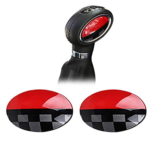 GTINTHEBOX JCW Style ABS Shift Knob Automatic Trans Trim Badge Covers for Mini Cooper/Cooper S for Hardtop (F56), Hardtop 4-Door (F55), Convertible (F57) & Clubman ()