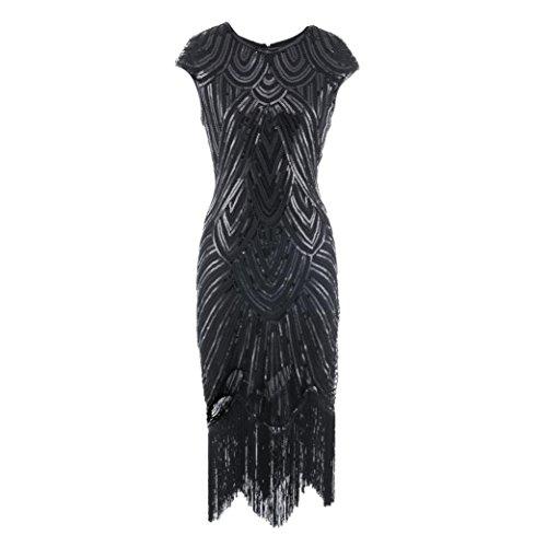 gaddrt 50s Vintage Rockabilly Kleid Partykleider Frauen Kleid Quaste ...
