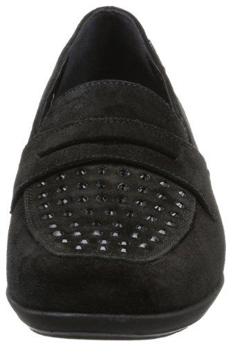 Schwarz 12200 KINGA Black mujer Velcalf Premium Negro SPARK 3600 para Mocasines cuero VELSPORT de Mephisto BLACK Nero P5108447 OqBwS6qTn