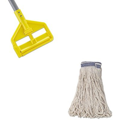 KITRCPE139RCPH146 - Value Kit - Rubbermaid Universal Headband Mop Head (RCPE139) and Rubbermaid Invader Fiberglass Side-Gate Wet-Mop Handle (RCPH146) by Rubbermaid