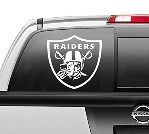 Raiders Skull Window Sticker Vinyl Decal Perfect for Las Vegas and Oakland fans 5 sizes and 3 colors to choose from 5 Inch