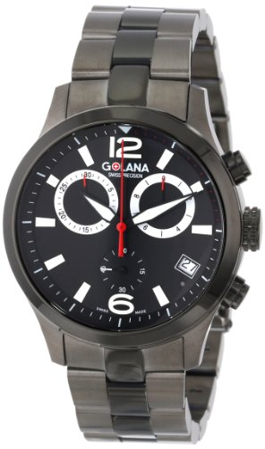 Golana Swiss Men's AE240-2 Aero Stainless Steel Chronograph (Stainless Steel 2 Register Chronograph)
