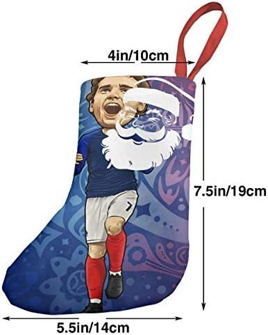 クリスマスの日の靴下 (ソックス3個)クリスマスデコレーションソックス マドリードサッカーGriezmann クリスマス、ハロウィン 家庭用、ショッピングモール用、お祝いの雰囲気を加える 人気を高める、販売、プロモーション、年次式