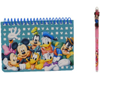 Mickey Autograph (Disney Mickey Mouse and Friends Spiral Autograph Book - Teal and 1 Pen)