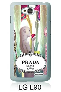 New Fashionable And Durable Designed Case For LG L90 With Prada 45 White Phone Case