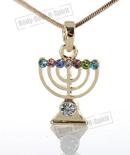 Soul Lamp Menorah Necklace LUCKY charm Amulet Pendant Jewelry Judaica Kabbalah