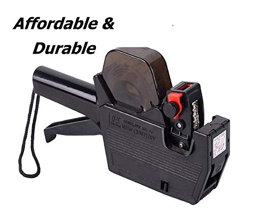 MX5500-A Class Price Gun with 6 Rolls (3,600 Labels) + 2 Inkers Included (Black), Speedy, Durable Pricing Gun, User's Manual Included by Duodeli (Black) from Duodeli