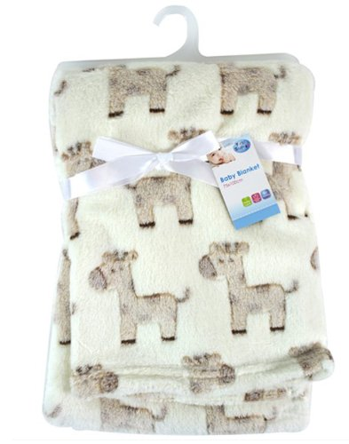 First Steps Luxury Soft Fleece Baby Blanket with Cute Giraffe Design 75 x 100cm for Babies from Newb