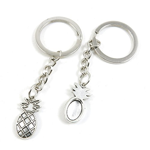 Arts & Crafts Ring - 1 PCS Arts Crafts Fashion Jewelry Making Findings Key Ring Chains Tags Clasps Keyring Keychain B4YW6H Pineapple