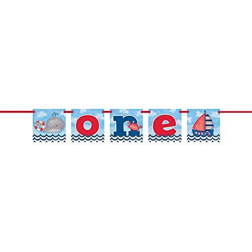 4ft One Nautical Boys 1st Birthday Banner