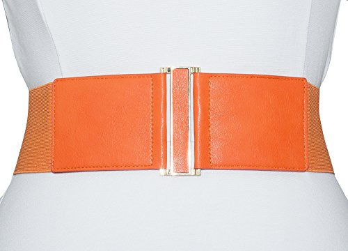 Stretch Patent Buckle Belt (Modeway Women's Leather 3