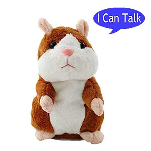 Bestland Plush Interactive Toys PRO Talking Hamster Repeats What You Say Electronic Pet Chatimals Mouse Buddy for Boy and Girl, 5.7 x 3 inches -