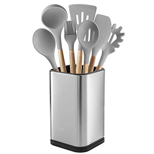 Stainless Steel Kitchen Utensil Holder, Kitchen Caddy, Utensil Organizer, Modern Rectangular Design, 6.7 by 4