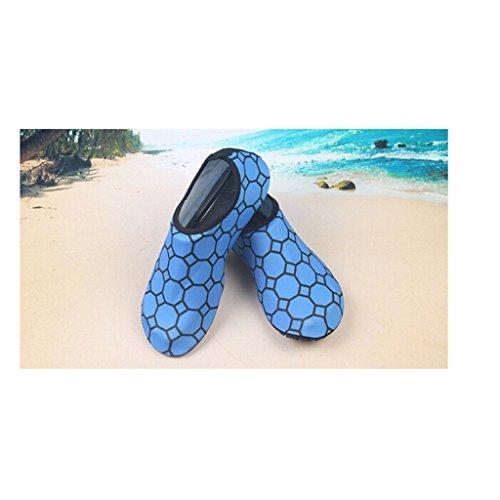 Eagsouni® Unisex Barefoot Water Skin Shoes Aqua Socks for Beach Fitness Swim Surf Running Yoga Exercise Blue uicgZAs