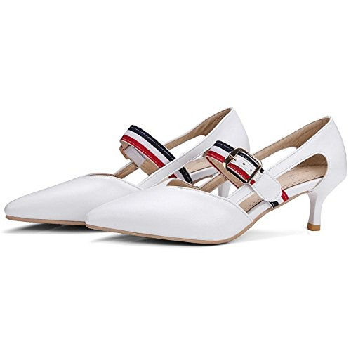 COOLCEPT Damen Kitten-Heel Pumps White