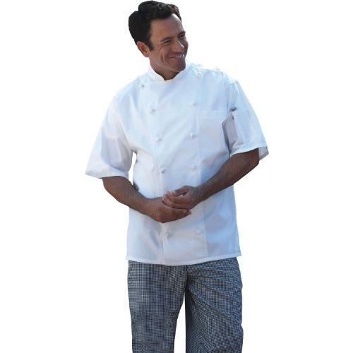 - Uncommon Threads Short Sleeve Master Chef Coat - X-Large