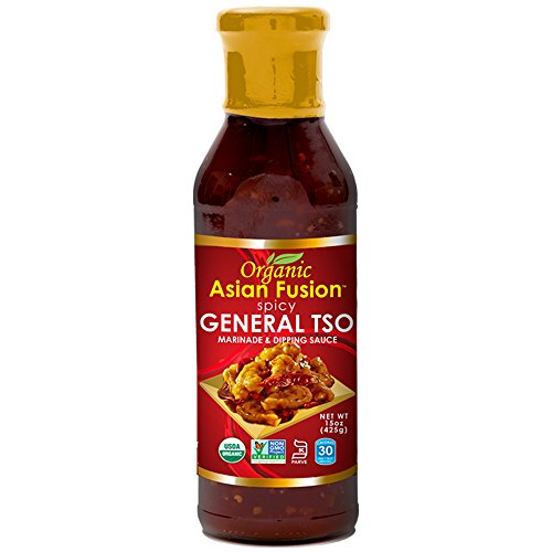 Asian Fusion General Tso Sauce, 15 Ounce - Non-GMO, Organic Certified, Kosher & Gluten Free