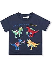 JoJo Maman Bebe Baby Boys' Seaside Dinos T-Shirt, 5-6 Years