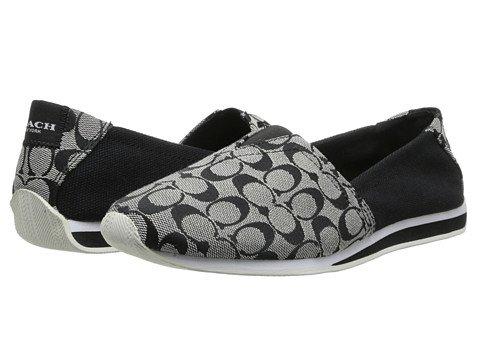 Coach Pandora 8Cm Canvas Sneaker Black White Black 7.5M