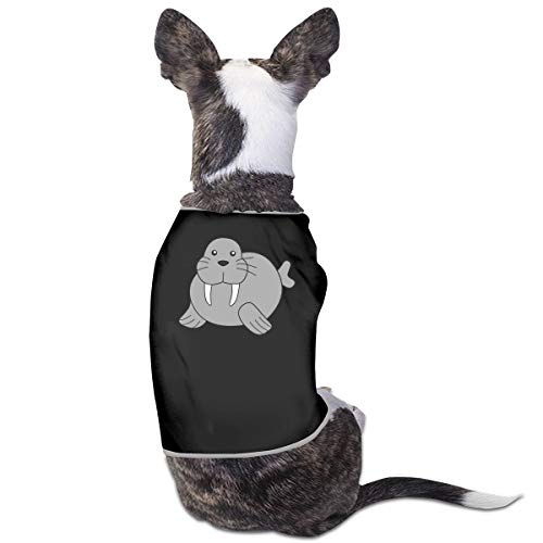 Jazipaty Walrus Pet Clothes Small Dog Cat Pet T-Shirts Breathable Sleeveless Puppy Costumes Summer Custom Vest for $<!--$15.99-->