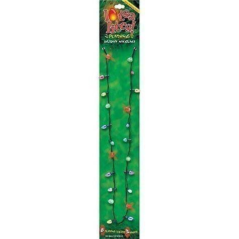 USmyth® Christmas Holiday Flashing Light Bulbs Necklace, 8 Flashing Lights 3 Modes Last Approximately 5-6 - Necklace Blinking Light