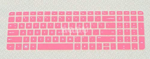 Bodu Silicone Keyboard Cover Protective Skin for HP Pavilion New DV6 G6 with Number Keys on right side(Pink)