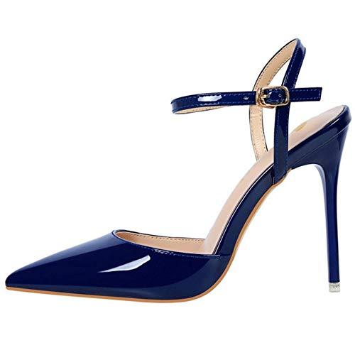 Caviglia blu Alla Zanpa Heels Cinturino Moda Stiletto 1 Donne Sandali 0zwvqT0