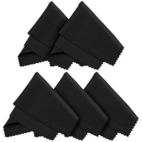 5x LetsSwipeThat Mikrofaser Reinigungstücher 18x15 cm zur Reinigung von LED Bildschirm, Tablet, Smartphone, Laptop, Notebook, Touchscreen Display, Brillen, Kamera Objektive, Glas. Tücher auch zum Reinigen von macbook, ipad und iphone (Apple)