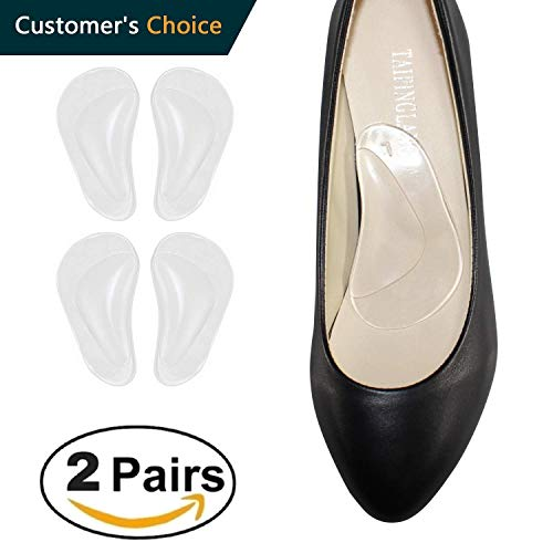 Medical Arch Support Insoles for Flat Feet Arch Support Gel Foot Cushions High Arch Cushions Shoe Insoles Women & Men Shoe Inserts for Foot Pain Relief, Clear+Clear Color