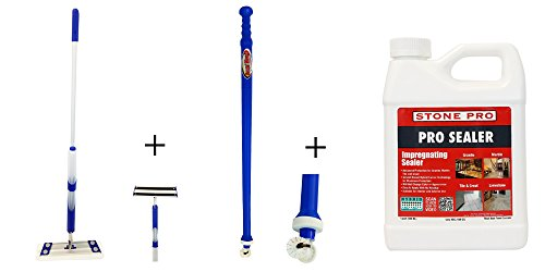 Ultimate Grout - Ultimate Grout Clean & Care Kit - Grout Sealer Wand, Bucketless Flomop System, Stone Pro - Pro Impregnating Sealer Quart - Designed for Grout Care