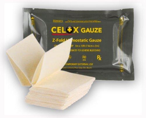 CeloxTM Z-Fold Gauze, 10 Ft by Celox