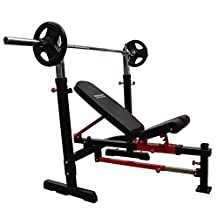 BRONSON Heavy Duty Olympic Press Bench Barbell Weight Lifting Strength Training
