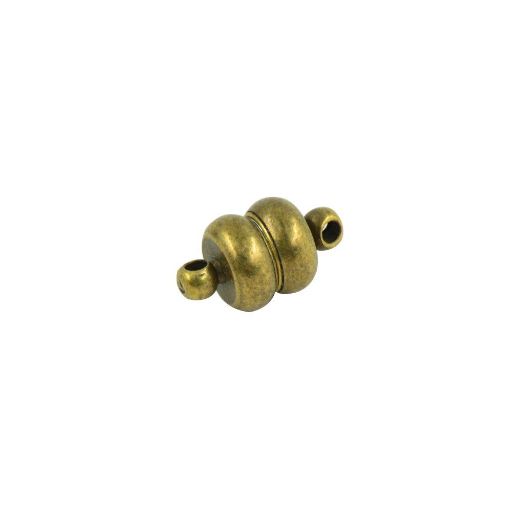 Gold Armband Magnetverschluss MagiDeal 10 Satz Magnet Verschl/üsse DIY Schmuck Basteln Schlie/ße Haken f/ür Halskette