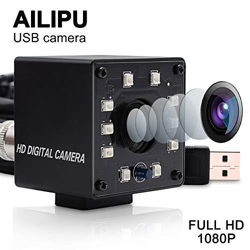 AILIPU 2MP HD Web Camera Night Vision Webcam 1080P Mini Monitor USB Camera Module Infrared CMOS Webcamera Full HD 2MP 60FPS Video Industrial Camera 10pcs Ir ()