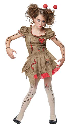 California Costumes Voodoo Dolly Costume, Tan/Red, Large -