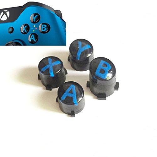 A B X Y Buttons Letters Mod Menu Button for Xbox One S Slim Elite Controller (Black)