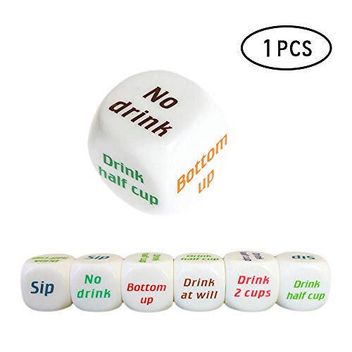 - 1 Pc Color Printing Creative Drinkers' Wager Game Bar Party Pub Dice Fun Toy Game Dice KTV Pub