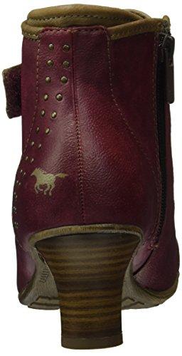 Mustang 1156-601, Botines para Mujer Rojo (55 bordeaux)