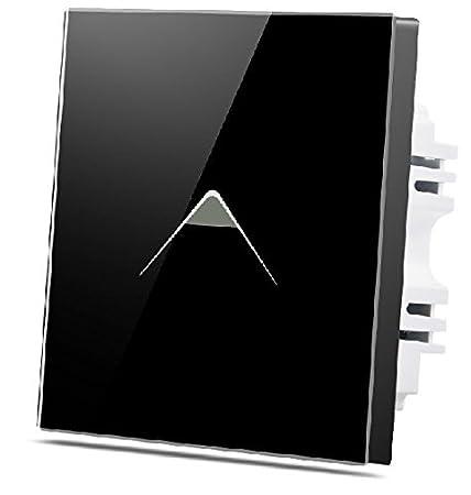 WALLPAD C7 Decorative Triangular Symbol Black 1 Gang 2 Way