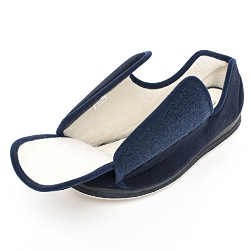 Creation Comfort Woman Wide Washable Slippers – Premium Diabetic Slippers For Large & swollen Feet...