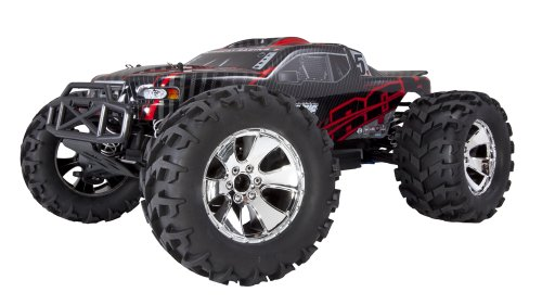 Redcat Racing Earthquake 3.5 Monster Truck Nitro 2-Speed with 2.4GHz Radio (1/8 Scale), Red/Black ()
