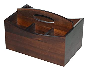 Mountain Woods 4 Compartment Acacia Hardwood Condiment Caddy