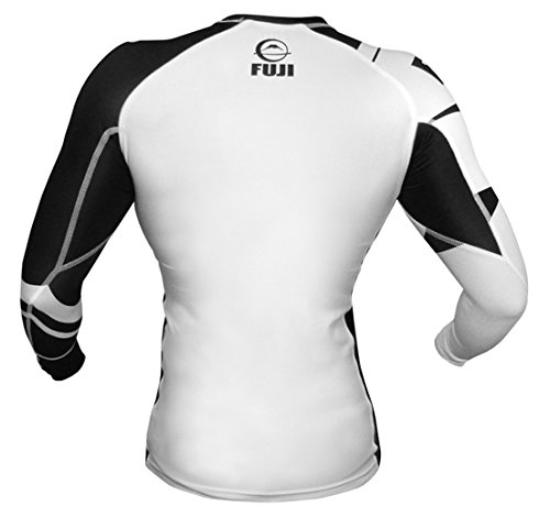 Fuji IBJJF Freestyle Long Sleeve Rash Guard - White - M
