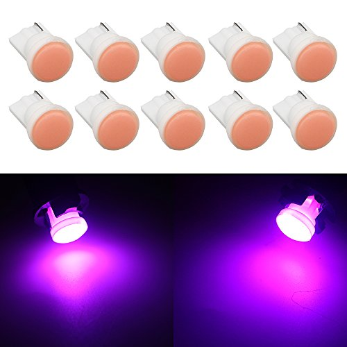 Grandview 60 Lumens Pink 194 2825 T10 W5W 168 501 192 Super Bright LED  Light Bulb Interior Door Light Bulb Luggage Compartment Light Bulb Center  High