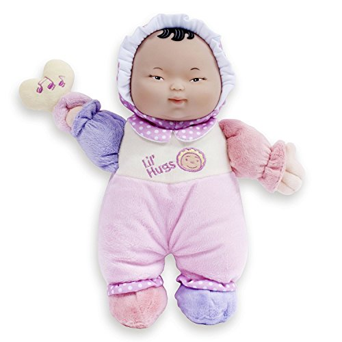 JC Toys Lil' Hugs Asian Pink Soft Body - Your First Baby Doll - Designed by Berenguer - Ages 0+ -