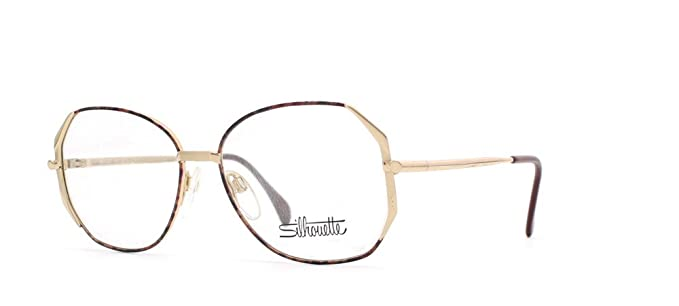 a1f2f4f1a13 Silhouette 6182 6062 Gold Brown Square Certified Vintage Eyeglasses Frame  For Womens  Amazon.co.uk  Clothing