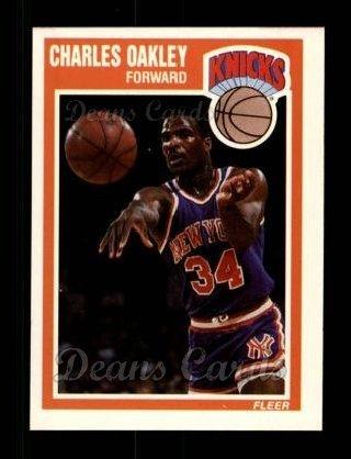 1989 Fleer # 103 Charles Oakley New York Knicks (Basketball Card) Dean's Cards 8 - NM/MT Knicks
