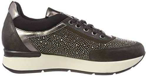 Grigio Oxford 08w Stonefly 13 strass Gray Stringate Nappa magnet Donna Face Scarpe rYP7wYnq8