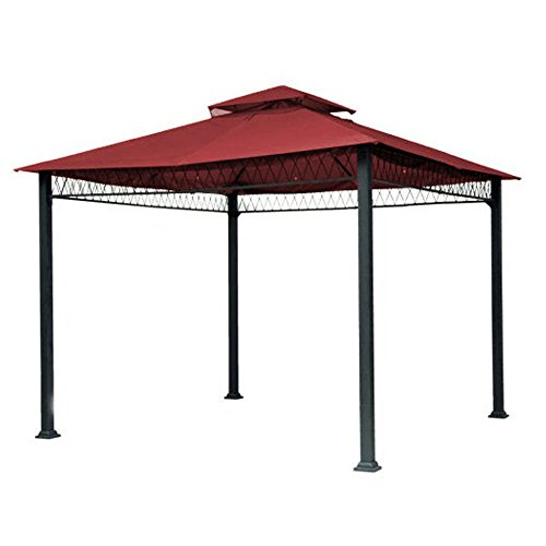 Garden Winds Replacement Canopy Top Cover for Havenbury Gazebo – Riplock 350 – Cinnabar